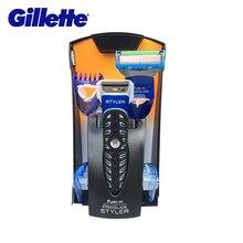 Gillette de afeitar eléctrica de afeitar para hombres 3 en 1 de la serie de barba hombre cuchillo está preparando el pelo de afeitar máquina