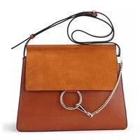 Роскошные дизайнерские сумки Для женщин из натуральной кожи Хлоя сумка известных фирменных высокое качество натуральной телячьей сумка це