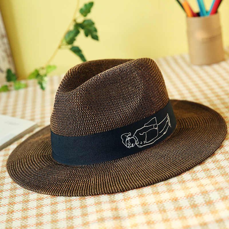 European and American jazz grass yarn lovers' hat breathable sun hat sunhat zonnehoed dames chapeau paille femme strohhut