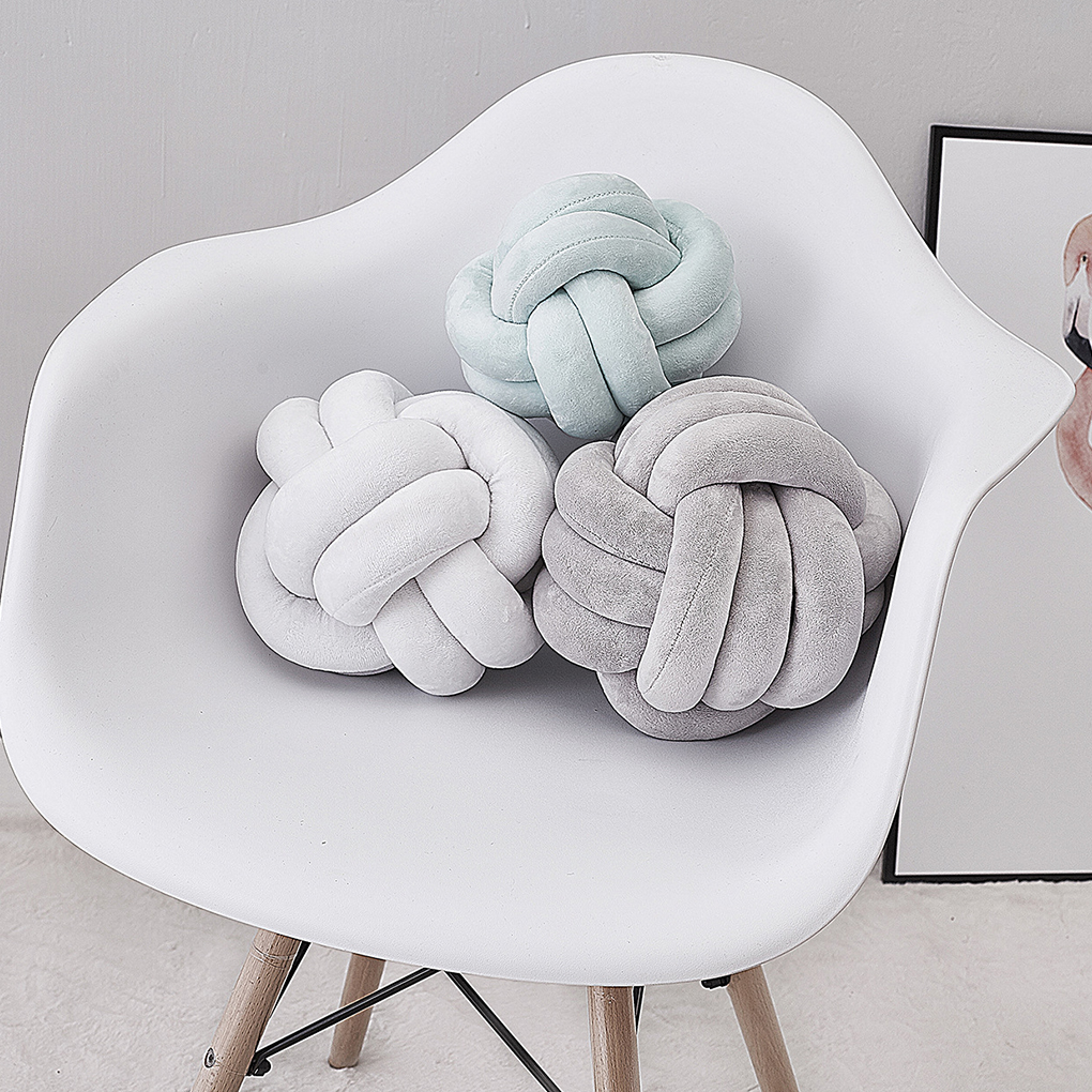 2019 Newborn Baby Infant Knot Nursery Cushion Plush Dolls Throw Pillow Children's Ball Toys Baby Bed Bumpers