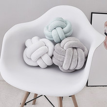 2019 Newborn Baby Infant Knot Nursery Cushion Plush Dolls Throw Pillow Children's Ball Toys Baby Bed Bumpers(China)