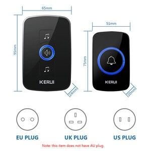 Image 4 - KERUI אלחוטי בית פעמון עמיד למים כפתור מכאני כפתור ארוך מרחק קישור לבחירה צלצול קל להתקין