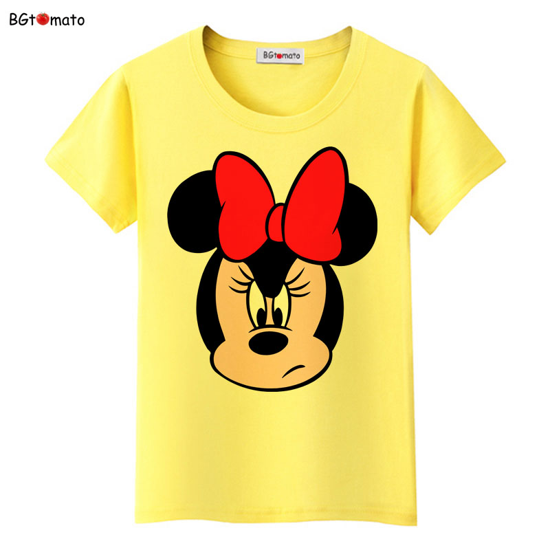 Bgtomato love ladies minnie t shirt women famous cartoon for Quality shirts for printing