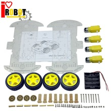 4WD Smart Robot Car Chassis Kits for arduino with Speed Encoder New for arduino robot RC car chassis robot motor wheel #RBP011
