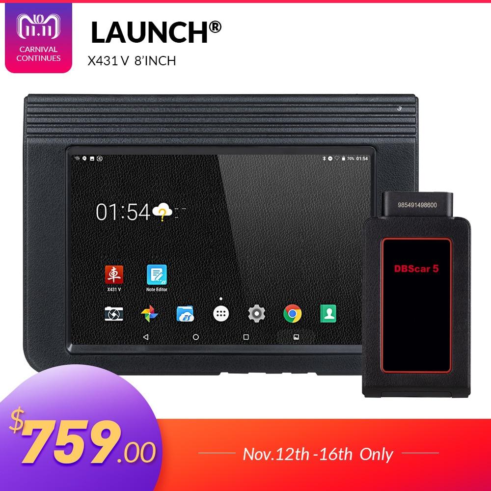 LANCEMENT X431 V 8 Version Bluetooth Wi-Fi Full Système De Voiture outil De Diagnostic avec 2 Ans Mise À Jour Gratuite X-431 V Pro mini Auto Scanner