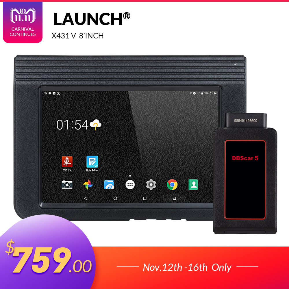 LAUNCH X431 V 8 Version Bluetooth Wi-Fi Full System Car Diagnostic tool with 2 Years Free Update X-431 V Pro Mini Auto Scanner все цены