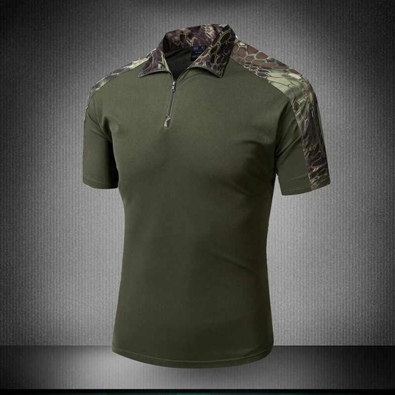 a1cf695cc6db ... Casual Camouflage T shirt Men Cotton Army Tactical Military Combat T-shirt  Camo ACU Mens ...