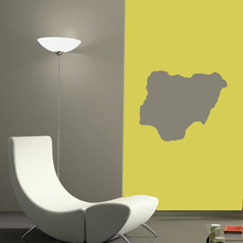 NIgeria map Globe Earth Country wall vinyl sticker custom made home decoration fashion design