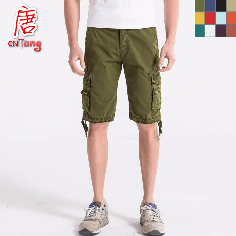 Cargo-Shorts Military Army Long Male Camouflage Cotton Plus-Size Summer Casual Loose