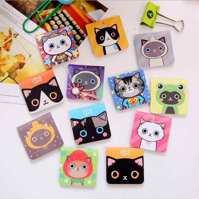 3 шт./упак. магнитные закладки для кошек дизайн сделать забавные книги маркер магнитный держатель страницы материалы школьные принадлежности