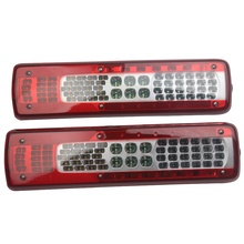 1 Pair 24V Car LED Rear Taillight Tail Lights for Volvo FM460 Truck Trailer Without Buzzer