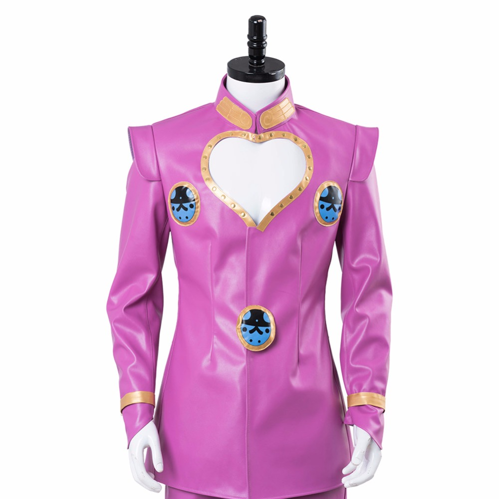 JoJo s Bizarre Adventure  Golden Wind Giorno Giovanna Cosplay Costume Pink  Suit Halloween Carnival Costumes Customizable-in Anime Costumes from  Novelty ... 36cba976d5e6