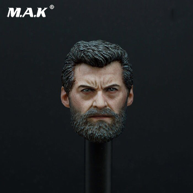 Old Hugh Jackman Logan 1/6 Wolverine Head Sculpt for 12 Inches Male Bodies Accessories Gifts Toys Brinquedos Collections 1 6 scale the game of death bruce lee head sculpt and kungfu clothes for 12 inches figures bodies