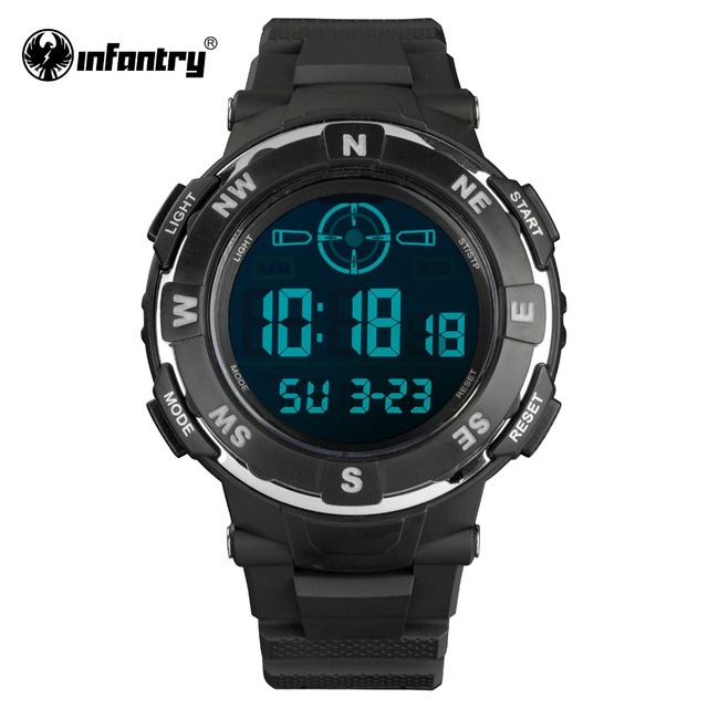 INFANTRY Luxury Brand Mens Sports Watches 3ATM Digital LED Military Watch Men Fashion Casual Electronics Wristwatches Hot Clock