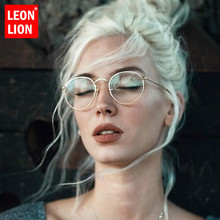 LeonLion 2019 Mirror Metal Sunglasses Women Vintage Brand Designer Flat Round Glasses UV400 Street Beat Oculos De Sol Gafas