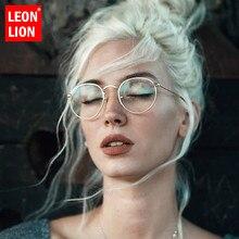 Gafas De Sol LeonLion 2019 con espejo De Metal para mujer, Gafas redondas planas De diseñador De marca Vintage UV400 Street Beat Gafas De Sol Gafas