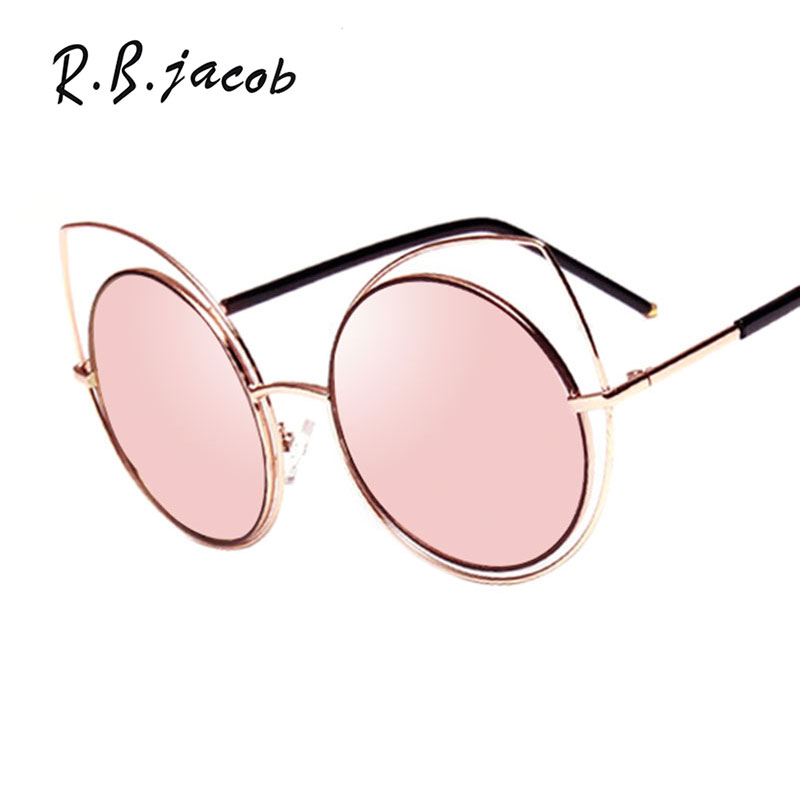 New Oval Women Men Sunglasses Brand Designer 2017 Small Size Round UV400 Metal Frame Cateyes Hollow Out Sun glasses Lady oculos