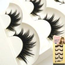 Nuevos 5 pares de pestañas falsas gruesas pestañas falsas largo maquillaje pestañas maquillaje fake lashes extensione envío libre S21