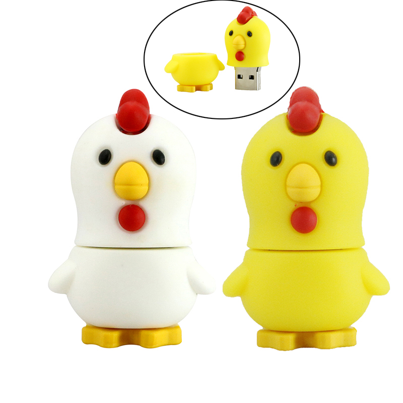 Best Gift New Arrival Lovely Chicken Pendrive Usb 2.0 Usb Cartoon Animal Chick Usb Flash Drive 8GB 16GB 32GB 64GB Pen Drive