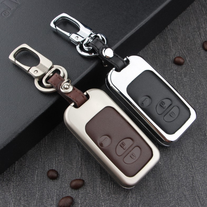 цена на Leather Car Key Case Cover For Toyota Land Cruiser Prado 150 Camry Prius Crown For Subaru 2013 2014 Foreste Outback XV legacy