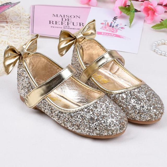 KKABBYII New Sequins Girls Princess Sandal Kids Girls Shoes Wedding Party  Shoes Ball Dancing Shoe Elsa 42f620701ca9