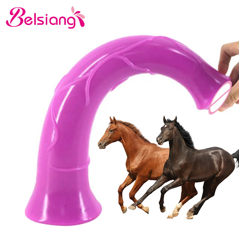 Belsiang 43cm Long Horse Dildo Realistic Huge Animal Dildos Big Penis Sextoy Super Dick Adult Sex Toys For Women Sex Shop wearable penis sleeve extender reusable condoms sex shop cockring penis ring cock ring adult sex toys for men for couple
