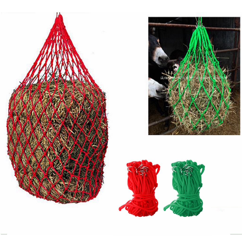 83cm MagiDeal Nylon Haylage Net Small Holed Hay Net Haynet Equipment Durable Horse Care Products Mildew Proof Red / Green