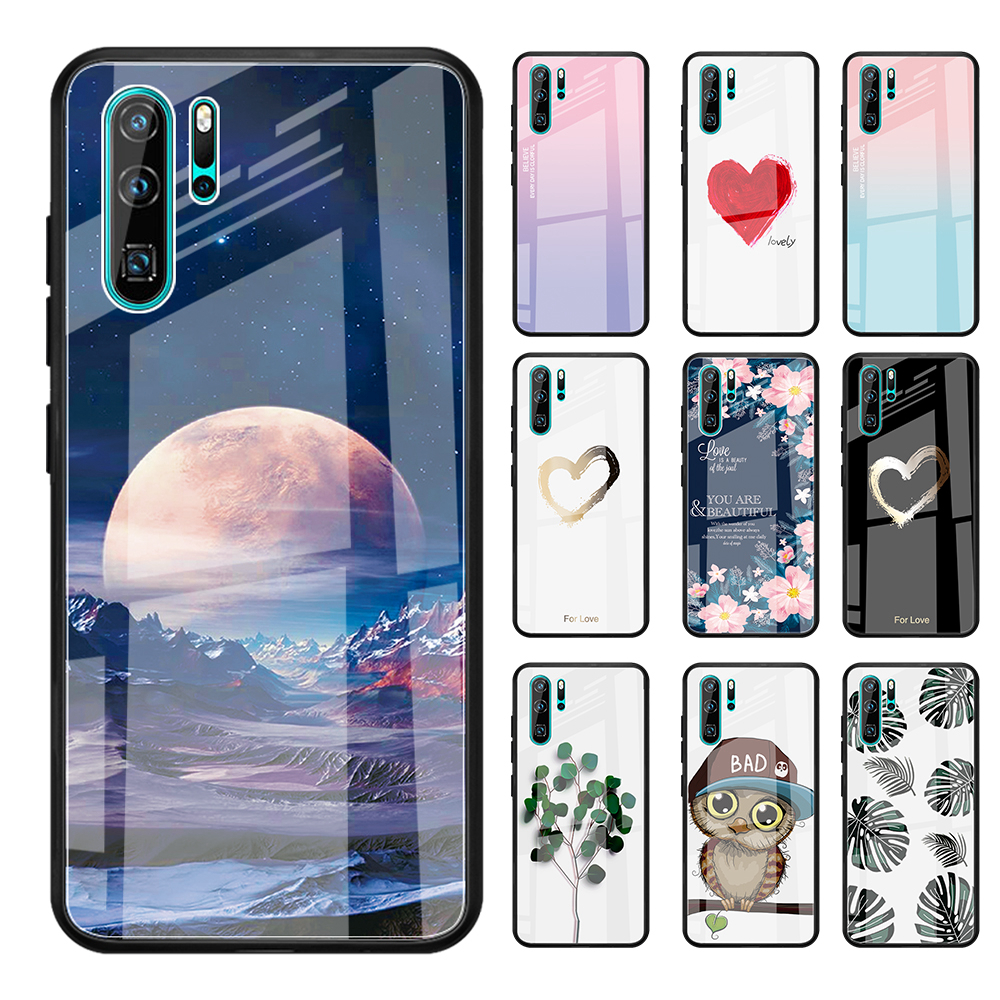 Gradient Tempered Glass Phone Case For Huawei Mate 20//10 P30 P20 Lite Honor 8X