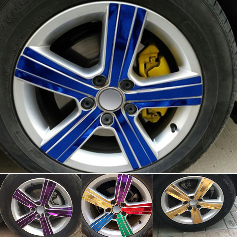 YONGXUN 4 wheels Car Wheel Hub Sticker Strip Tire Protection Care Covers colour Auto Accessories Parts For Volkswagen Golf 7