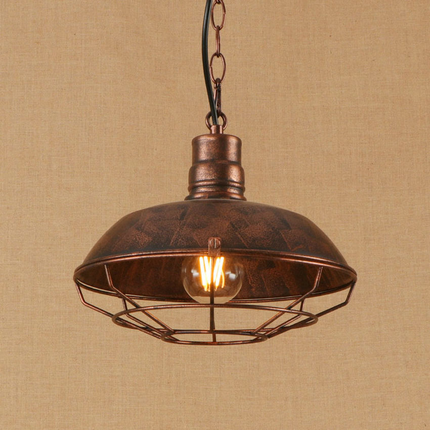 American country retro pendant lights dia 26cm metal iron net industrial style droplight restaurant cafe bar Nordic pendant lamp ascelina american retro pendant lights industrial creative rustic style hanging lamps pendant lamp bar cafe restaurant iron e27