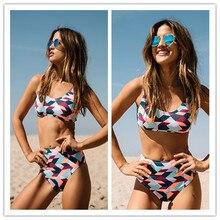 2017 High Waist Vintage Bikini Set Swimsuit Bathing Suit Swimwear For Women