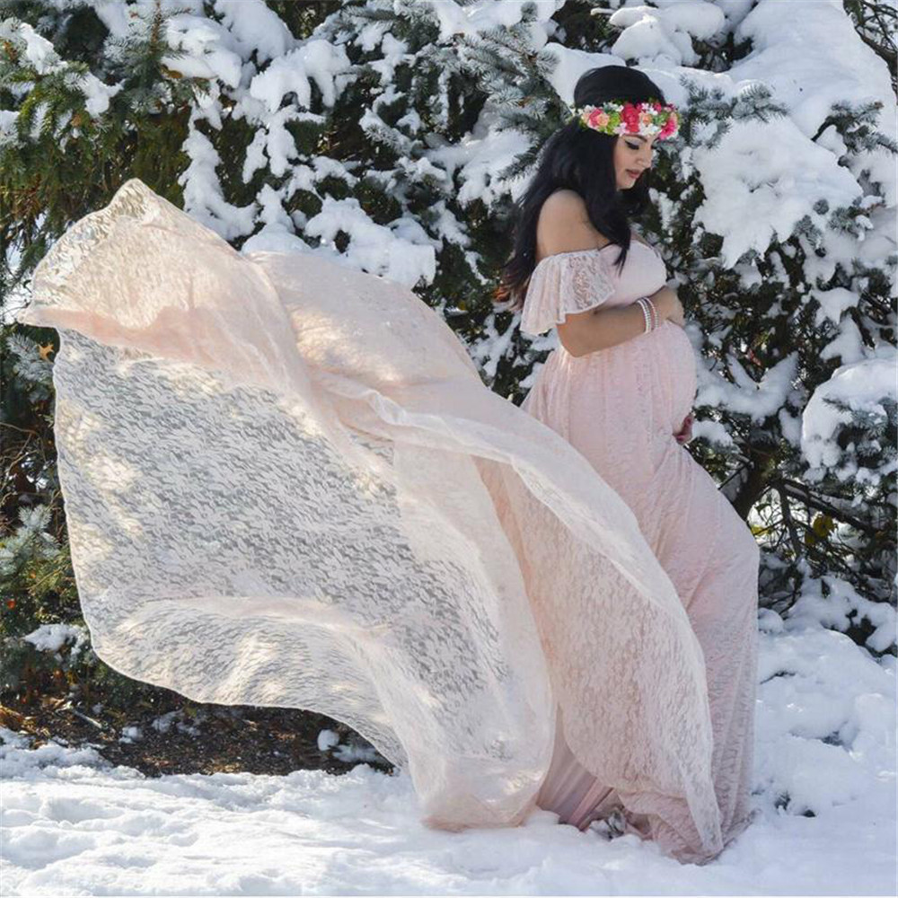 New Style Maternity photography props maxi gown Chiffon Maternity Dress Maternity Fancy Photo Shoot pregnant dress Free shipping