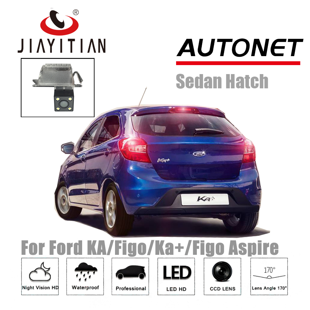 JIAYITIAN Rear View Camera For Ford KA/Figo/Ka+/Figo Aspire/CCD/Night Vision/license plate camera/Backup camera Parking Camera jiayitian rear camera for chevrolet orlando 2010 2017 ccd night vision backup camera reverse camera parking license plate camera
