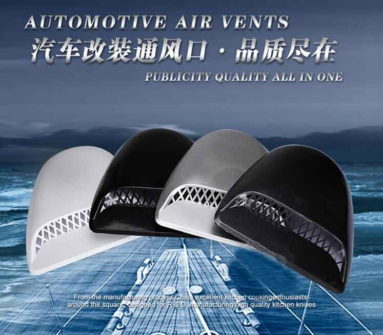 Fashion Mobil Styling Universal Dekoratif Aliran Udara Masuk Sendok Turbo  Bonnet Vent Cover Hood Serat Karbon cbb03ec90a