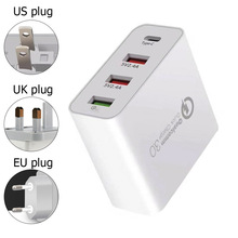 A3P 48W TypeC PD Quick Charge 3.0 Fast 4 USB Charger For iPhone Samsung Xiaomi huawei Travel Wall Phone adapter