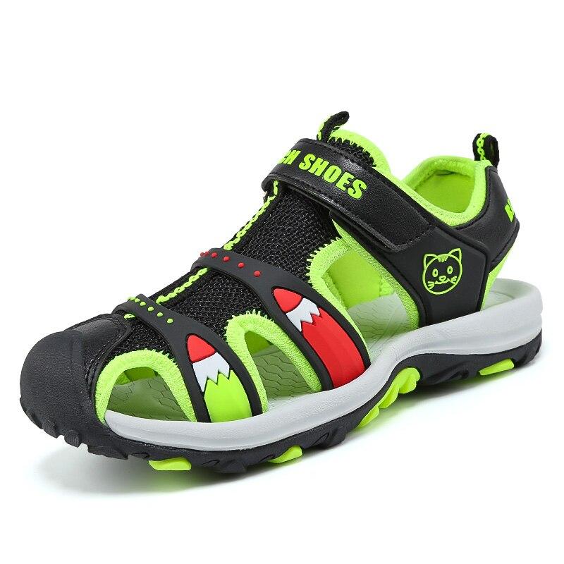 ULKNN Summer Children Sandals For Boys EVA Anti-Slippery Sport Boys Shoes Mesh Breathable Kids Sandals 2018 Fashion New Outdoor