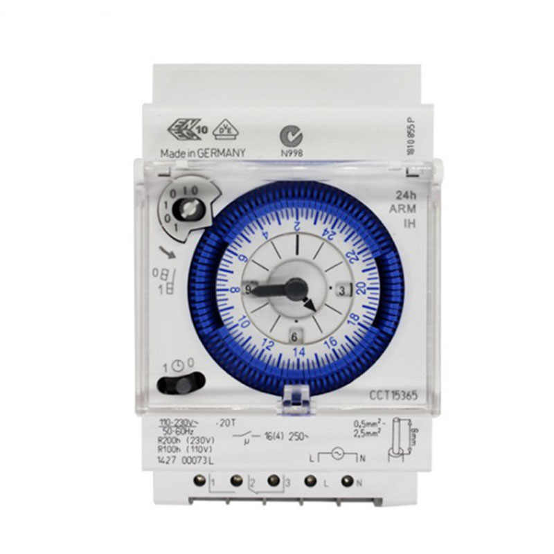 Sul 181d Analog 24 Jam 3-Modul Segmen Mekanik DIN Rail Timer Switch With Power Reserve SUL181d