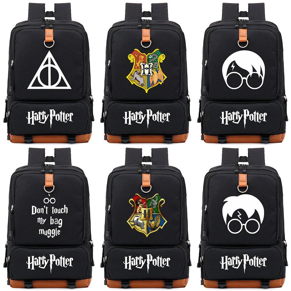 Deathly Hallows Muggle Boy Girl Children School Bag Women Bagpack Teenagers Schoolbags Canvas Men Student Backpack