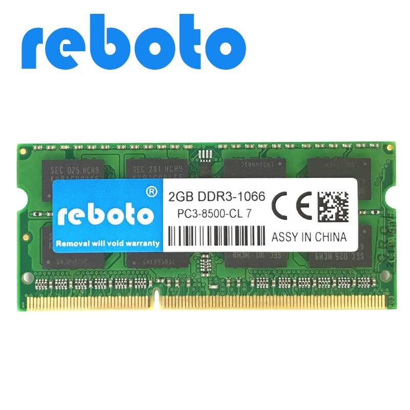 Reboto DDR3 Memory RAM 1GB  2GB 4GB   DDR3 8500mhz Memoria DRAM for Laptop Notebook