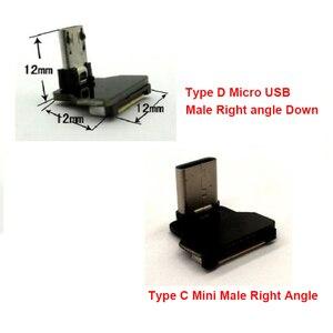 Image 3 - 5CM a 80Cm FFC Micro Tipo C Ângulo Direito AV carga USB Slim Fina Suave Plana FPC flexível saída de Cabo OTG