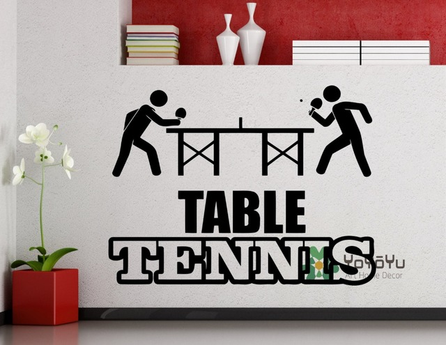 Wall Decal Table Tennis Sports Ping Pong Vinyl Sticker Home Interior Decoration Waterproof High Quality Mural