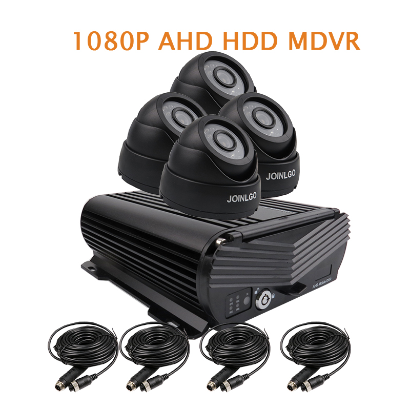 Free Shipping 4 Channel H.264 1080P HD AHD 2TB HDD Hard Disk Car DVR MDVR Video Recorder 4pcs IR InCar Dome Car Camera In Stock protector s1004v 4 ch h 264 hard disk digital video recorder w wired mouse black