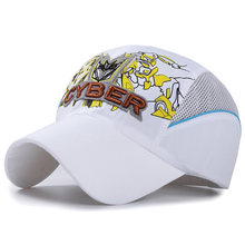 Spring Summer Kids Baseball Cap Quick-drying Boat Mesh Cap New Boy Girl Child Snapback Gorras Hip Hop Hat 8 Color(China)