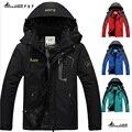 2017 hot Brand Luo Baoluo hombres chaqueta de invierno, Además de terciopelo viento cálido parka 6XL tallas grandes negro abrigo de invierno con capucha hombres