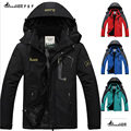 2017 hot Brand Luo Baoluo winter jacket men Plus velvet warm wind parka 6XL plus size black hooded winter coat men