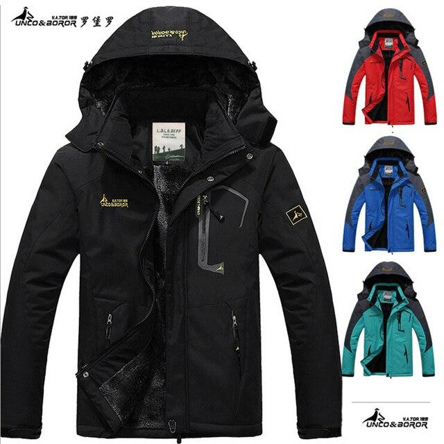 2017 hot Brand Luo Baoluo winter jacket men Plus velvet warm wind parka 6XL plus size black hooded winter coat men