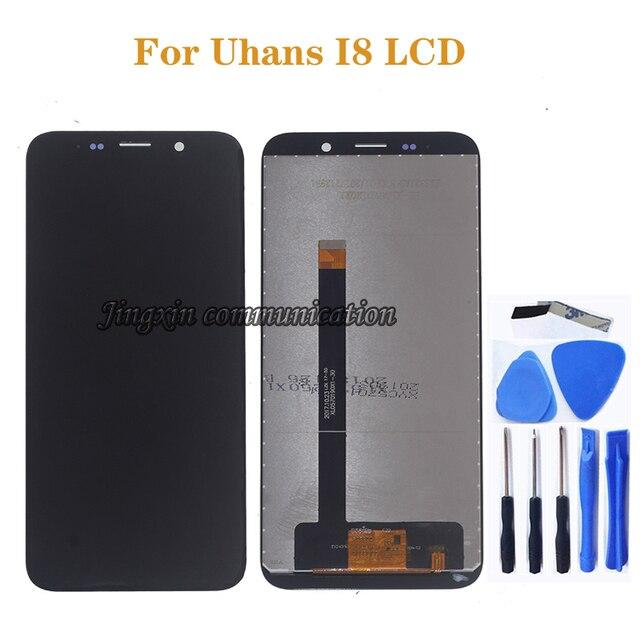 5.7 بوصة الأصلي عرض ل Uhans i8 LCD + محول الأرقام بشاشة تعمل بلمس مكون ل Uhans i8 شاشة LCD شاشة رصد إصلاح جزء