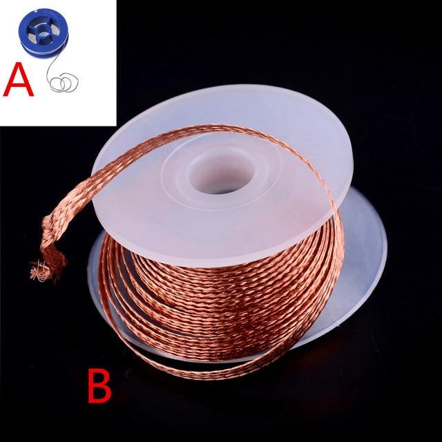 1 PC 3.5 milímetros 1.5 M Fio Desoldering Braid Solda Remover Wick Ferramenta de Reparo