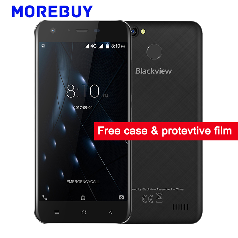 "Blackview A7 Pro Smartphone Dual Rear Cameras MT6737 Quad Core 1.3GHz 2G RAM 16G ROM Android 7.0 Fingerprint 5.0""HD Mobile Phone"