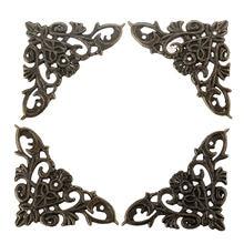Dreld 4 шт фурнитура для декоративной мебели бронзовые Угловые